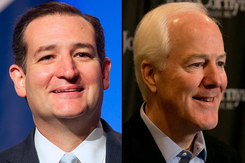 Republican U.S. Sens. Ted Cruz and John Cornyn