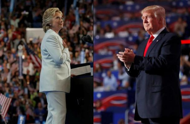 Democratic presidential nominee Hillary Clinton and Republican presidential nominee Donald Trump.