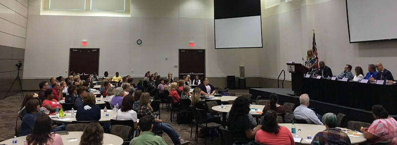 "A room of educators from various North Texas school districts attended this information session ""Welcome Back to School-The Reality for Transgender Students."""