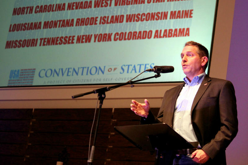 Mark Meckler, who co-founded the Convention of States project, told a crowd in Fort Worth that the only way to fix the federal government is to amend the constitution.