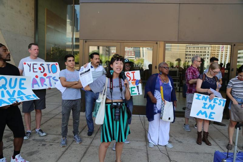 trans.lation's Carol Zou was an organizer of the Arts Equity Now rally and spoke out about the city's plan.