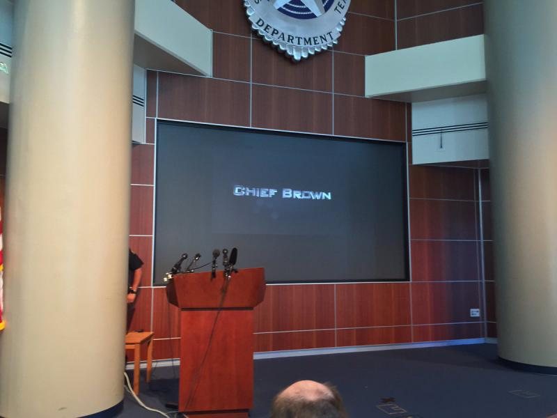 David Brown is expected to speak at 10 a.m. at the Dallas Police Headquarters.