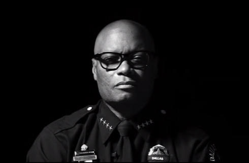"Dallas Police Chief David Brown recently appeared in The Black Eyed Peas' remix of their 2003 hit, ""Where Is The Love?"""