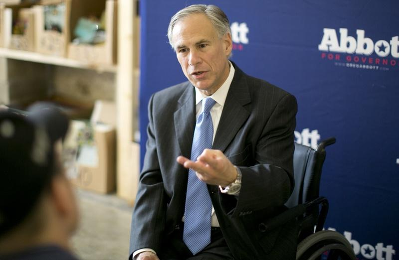 """Gov. Greg Abbott is shown in November 2015 proposing reforms against """"sanctuary cities"""" that he wants Texas lawmakers to consider in the 2017 legislative session."""