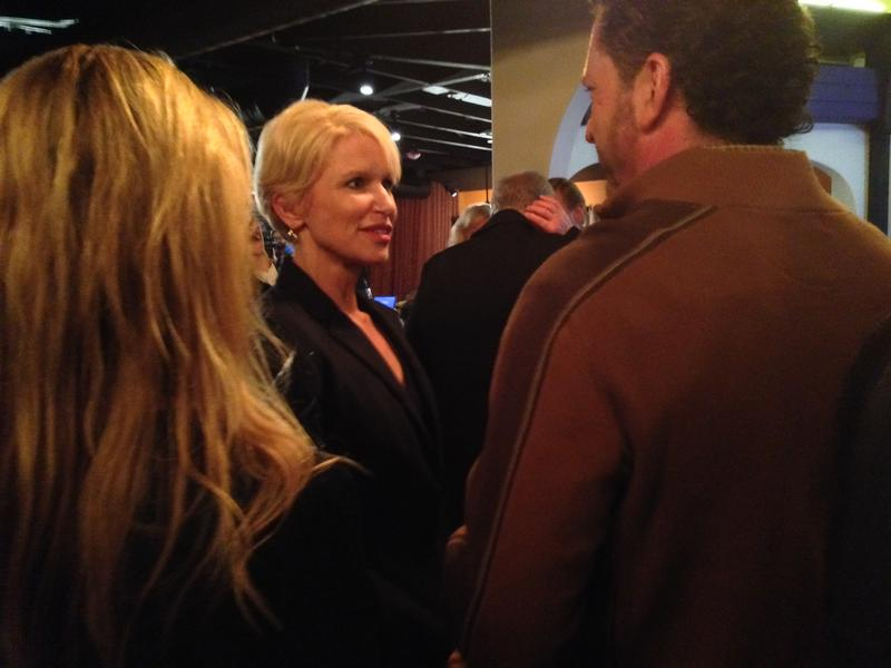 Susan Hawk talked with supporters on election night in 2014.