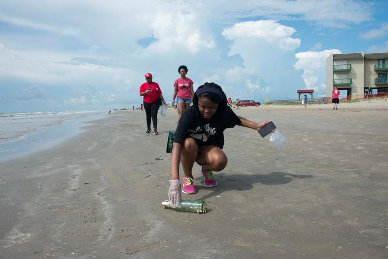 Volunteers in several coastal counties removed trash from the state's beaches on Saturday for the 30th annual Fall Adopt-A-Beach Cleanup.