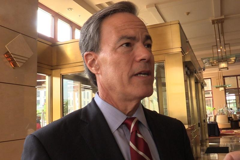 Texas House Speaker Joe Straus is shown at the Republican National Convention in Cleveland on July 19, 2016.