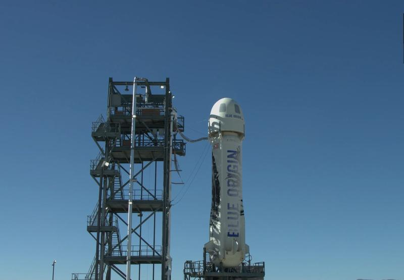 Blue Origin's New Shepard rocket survived an in-flight test launch in West Texas Wednesday.