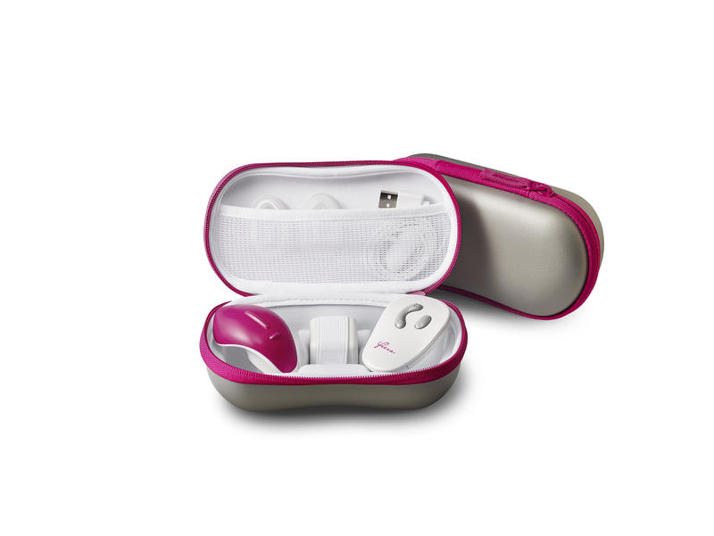 The Fiera is a small reusable device created by Nuelle to increase sexual arousal for women.