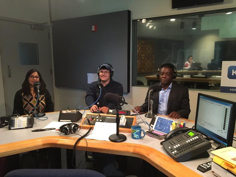 From left to right: Mona Kazim Shah, Javier Giribet and Kwami Koto.