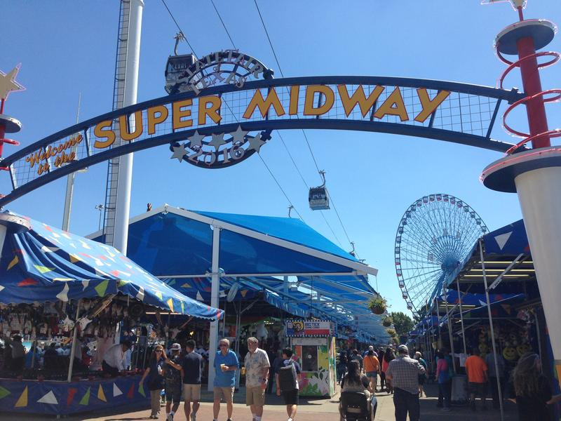 Food and rides abound at the State Fair of Texas Midway.