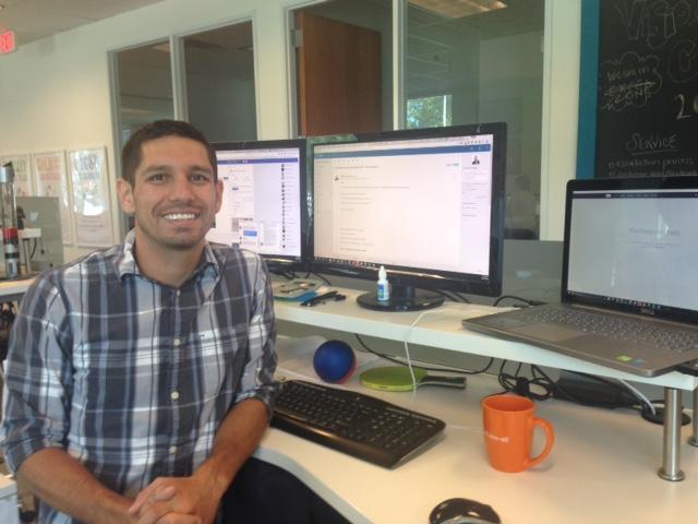 Jason Thomas at his office in Frisco