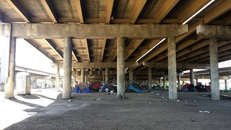 Tent City was Dallas' largest homeless encampment. It was shut down in May 2016.