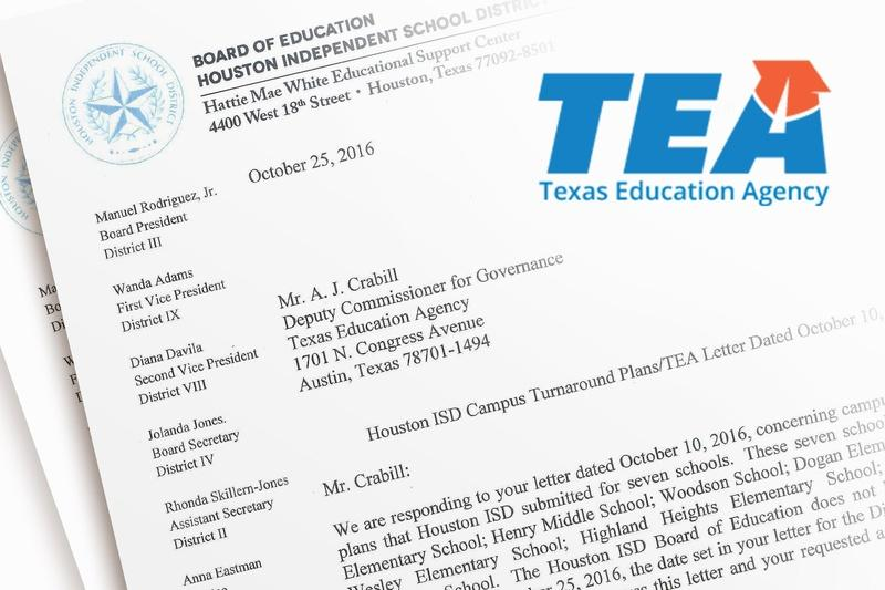 Houston ISD trustees admonish TEA for delaying campus turnaround plan implementation.