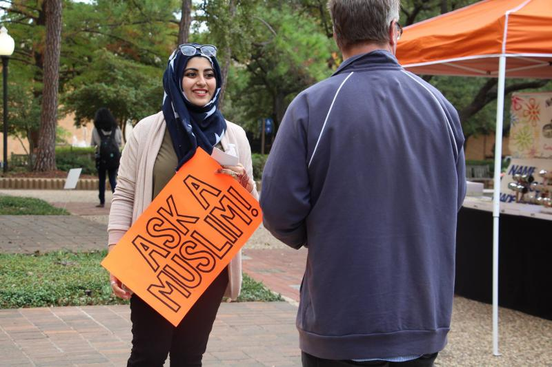 Nashwa Zafar, 20, is a senior at the University of Texas at Arlington. As a board member of the Muslim Student Association, she's helping spark more conversations about diversity on campus.