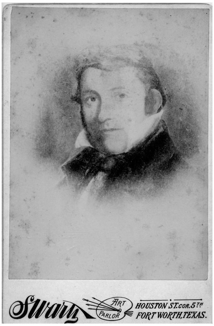 "A photograph of a portrait of David Crockett was previously labeled ""Face of a man"" in a state historical archive."