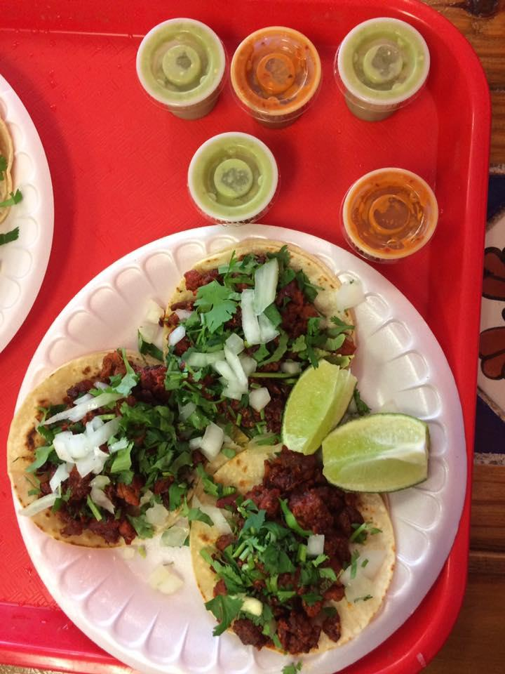 Tacos Al Pastor at Mi Tradición in Austin, Texas.