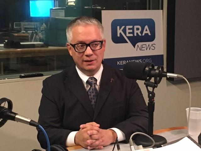 Christopher Suprun, the Dallas paramedic and elector who voted for John Kasich, speaks during last week's Friday Conversation with KERA News.