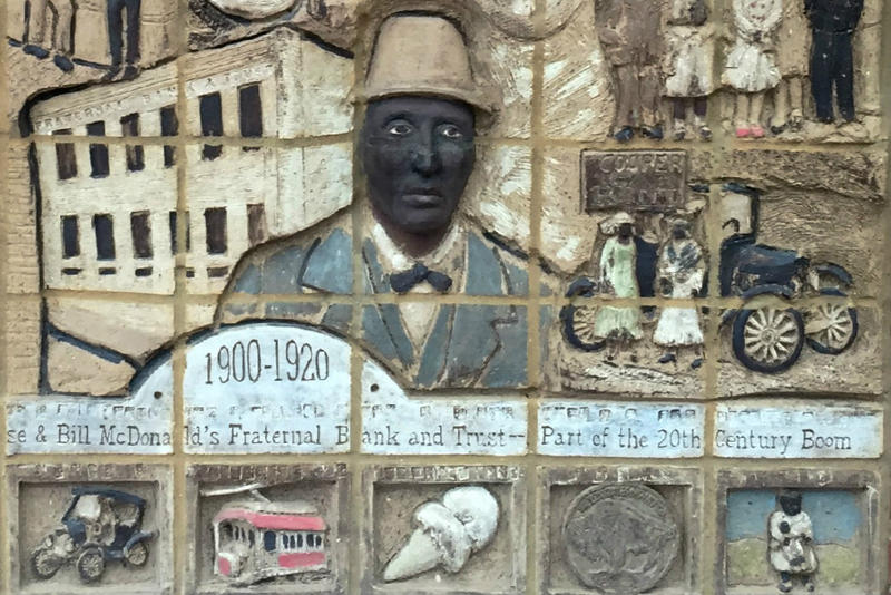 William Madison McDonald, an influential banker and political kingmaker, is commemorated in a mural at Fort Worth's Intermodal Transportation Center.