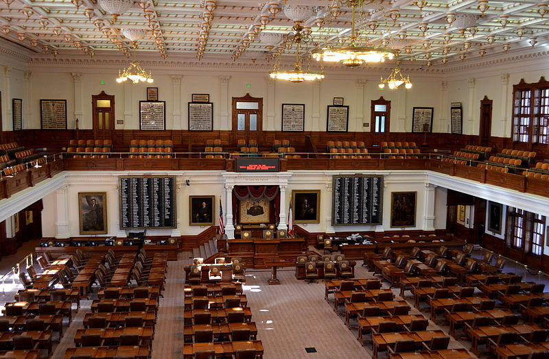 The House chamber of the Texas State Capitol.