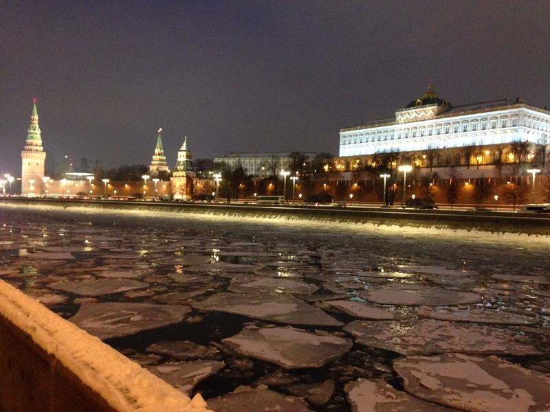 Here's what mid-January Moscow looks like while the United States inaugurates a new president.