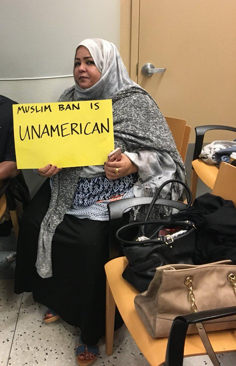 Amira Mustafa has been waiting for her mother since Saturday. She says she wasn't deported and few attorneys were able to get in contact with her.