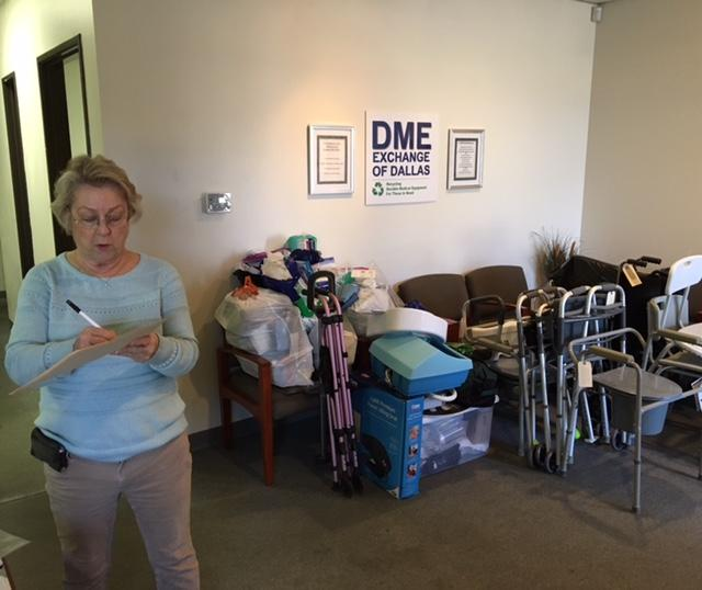 Betty Hersey runs DME Exchange of Dallas, which rehabs durable medical equipment for people in need.