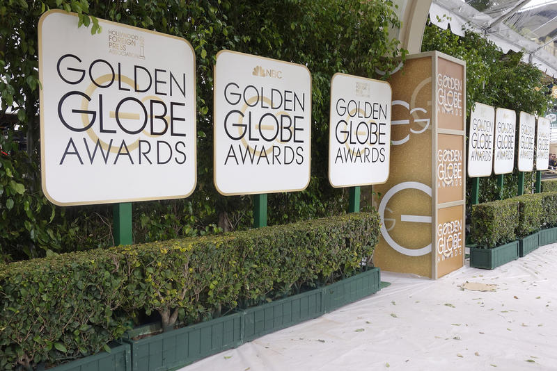 Signs from the 73rd Annual Golden Globe Awards at the Beverly Hilton Hotel on Jan. 10, 2016 in Beverly Hills, California.