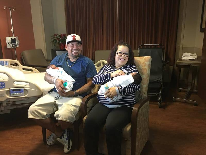 Cassandra Martinez and Eliseo Sanchez celebrated New Year's Eve and New Year's Day both with the birth of a new baby boy.