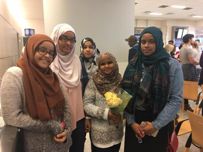 Fort Worth teenager Fal Mohammed was at the airport with her siblings, eagerly anticipating a visit from their 67-year-old grandmother, who flew in from Sudan Saturday. She hadn't be to the U.S. in 20 years.