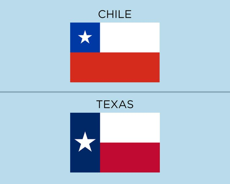 The Chilean flag and Texas flag are simliar but one state lawmaker hopes Texans won't use them interachangeably when communicating with emojis.