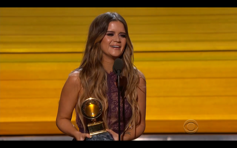 """Arlington native Maren Morris won Best Country Solo Performance for """"My Church,"""" which also was nominated for Best Country Song."""