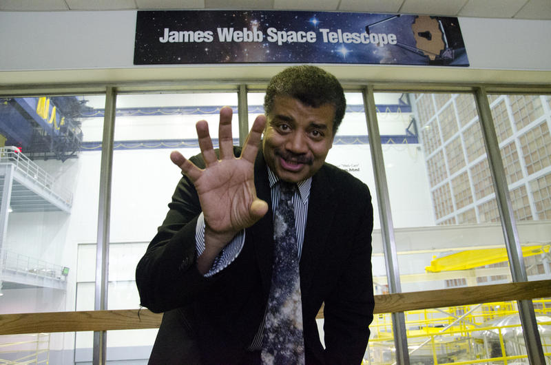 Dr. Neil deGrasse Tyson visits NASA's Goddard Space Flight Center in Greenbelt, Maryland in June 2014.