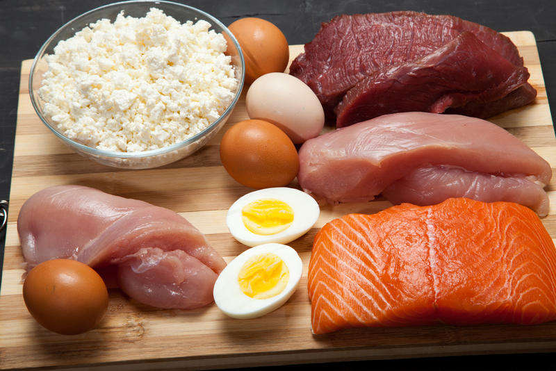 Protein's found in meat, fish, and eggs, but also in plants and vegetables.
