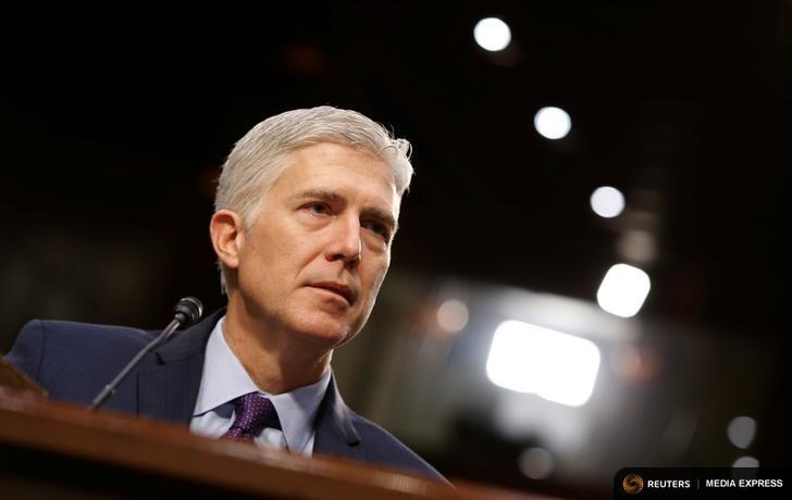 Supreme Court nominee Neil Gorsuch testifies before the Senate Judiciary Committee on Tuesday, March 21.
