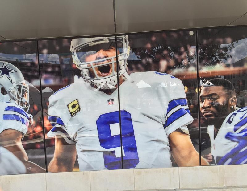 Tony Romo's picture at The Star in Frisco.
