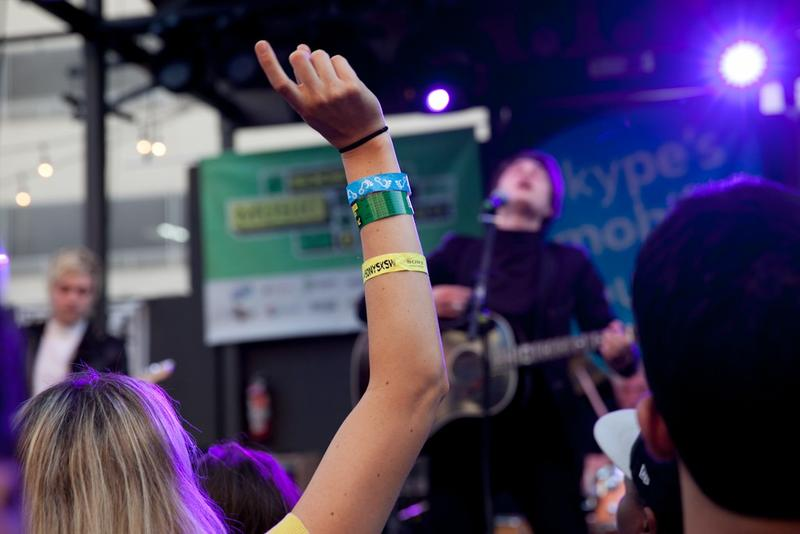A fan in the crowd during South By Southwest in March 2015.