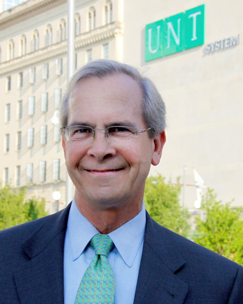 UNT System Chancellor Lee Jackson will retire after his contract ends in August. He says he'll stay until a replacement's found.