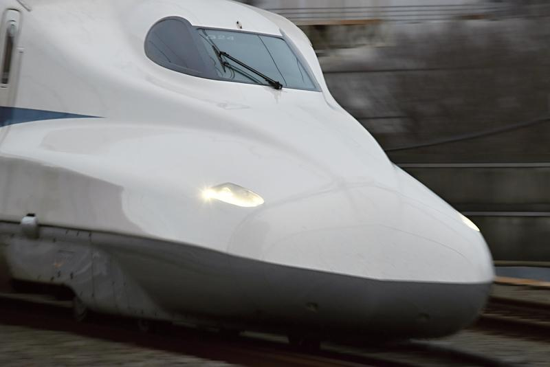 One of Japan's high speed trains, the same kind that a private firm wants to bring to Texas.