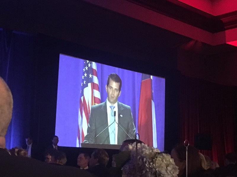 Donald Trump, Jr. spoke to Republicans in Dallas on Saturday, March 11 at the Omni Hotel.