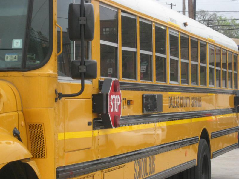Dallas County Schools operates buses for a dozen school districts in North Texas. Senator Don Huffines wants to end it, and has filed a bill that would do that.