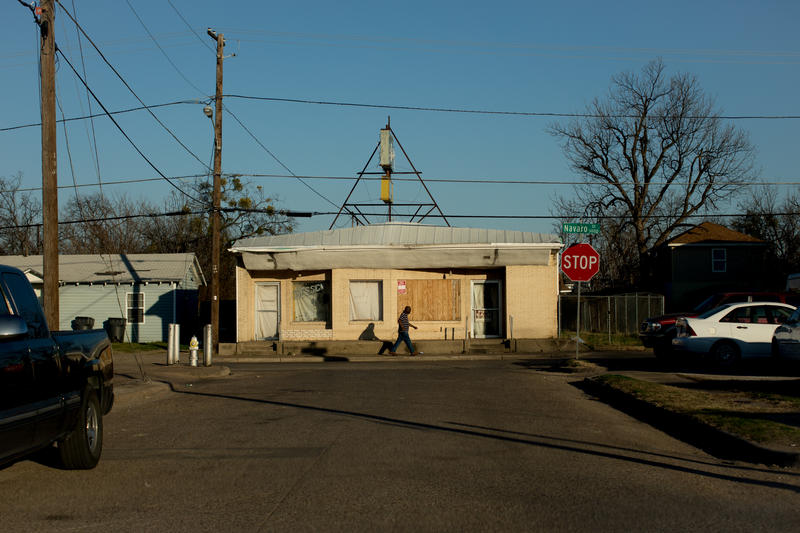 "A scene from West Dallas near Singleton Boulevard. West Dallas is the subject of KERA's One Crisis Series: ""No Place To Go."""