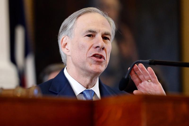 Gov. Greg Abbott speaks on the first day of the 85th Legislature on January 10.