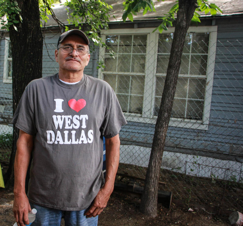 Merced Correa is a longtime renter who's about to buy a home in West Dallas.