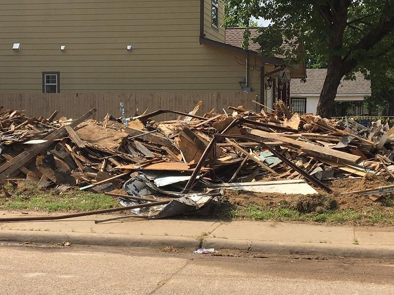 An HMK home in West Dallas was bulldozed on Thursday, May 18