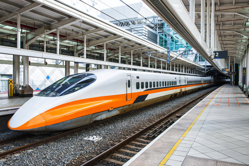 A high-speed rail train in Taiwan. Similar transportation in North Texas is still years away.