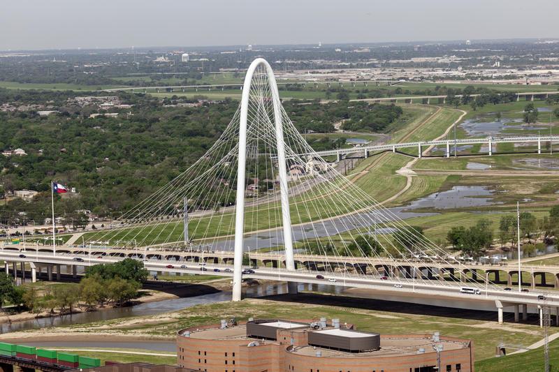 The Margaret Hunt Hill Bridge, designed by Santiago Calatrava, has put West Dallas in the spotlight.