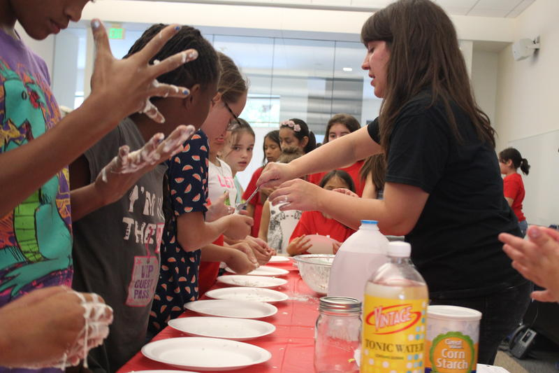 Girls Inc. Program Director Mackenzie Gray leads a science camp for tween and teenage girls. The organization gets about five percent of its budget from United Way of Tarrant County.