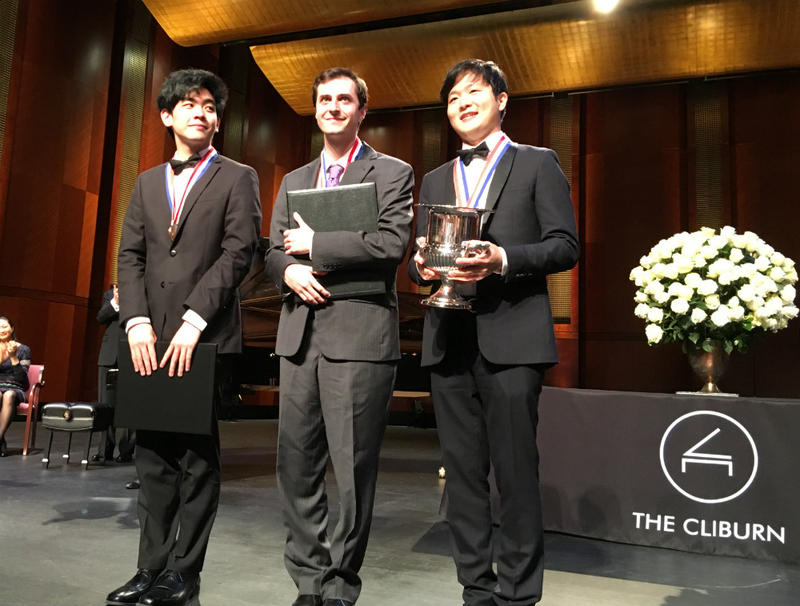 Here are the top three 2017 winners of the 15th Van Cliburn International Piano Competition. L-r, Daniel Hsu (bronze), Kenneth Broberg (silver), and Yekwon Sunwoo (gold)