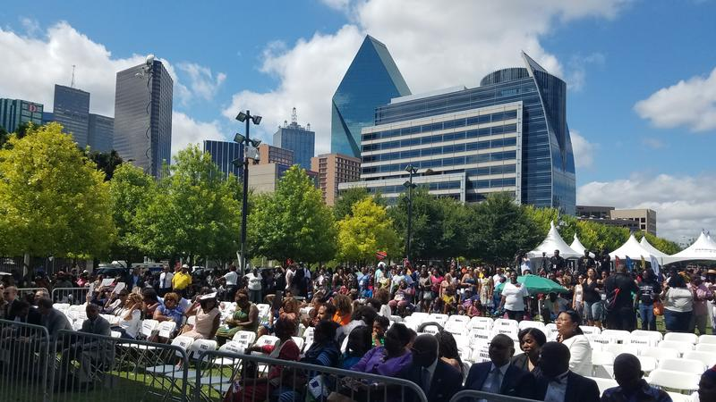 Attendees of MegaFest 2017 fill their seats in downtown Dallas on Wednesday, June 28, 2017.